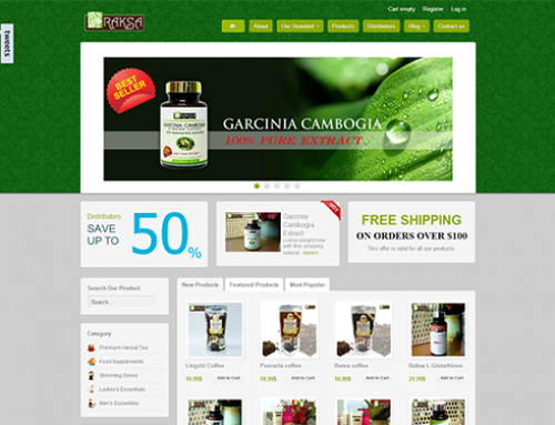 Raksa Hurbs – Commerce site for organic products.