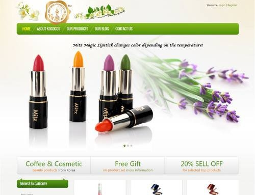 Kococos – E-Commerce site selling cosmetics from Korea.